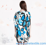 Ladiesのための短いSleeve Fashion Print Woven Dress