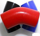 4 de Polyester van de vouw versterkte de RubberSlang van het Silicone van het Koelmiddel van de Elleboog van 90 Graad