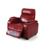 Rotes ledernes elektrisches Heimkinorecliner-Sofa 6031TV