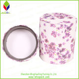 Impresión de la flor redonda de embalaje caja de la vela