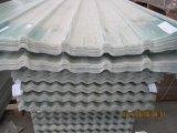 FRPは屋根ふきシート、波形を付けられるガラス繊維を取り除きパネルに屋根を付ける