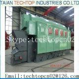 Caldeira de vapor Chain horizontal de carvão macio da grelha do único cilindro