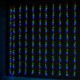 [لد] ستار شلال خيط ضوء لأنّ عيد ميلاد المسيح [ودّينغ برتي] زخرفة