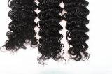 da cor natural profunda da onda do cabelo de 8A Remy Weave brasileiro do cabelo