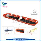 Civière de panier de sauvetage par hélicoptère avec des courroies