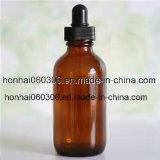 botella de petróleo esencial de cristal ambarina 100ml con el cuentagotas del tubo de cristal