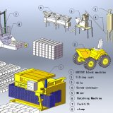 Qmy6-25 Concrete Hollow Block Machine Price in Indien