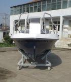 Barco de motor de /Speed del barco de los deportes de la fibra de vidrio de China Aqualand 15feet los 4.6m/del barco de pesca/barco del Panga con el estabilizador lateral (150c)