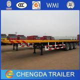3 essieux 40ton de 20FT et de 40FT de lit plat de conteneur prix de remorque de camion semi