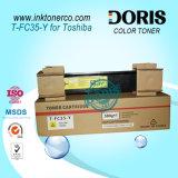 Polvo de toner ciánico de la copiadora del color de Japón Tfc35 T-FC35 para el estudio 2500c 3500c 3510c de Toshiba E