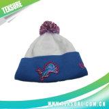 Unisex Cuffed Beanies шлемов вышивки связанные зимой с Pompom (097)