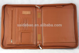 Flexible Handles를 가진 Genuine 휴대용 Leather Portfolio PU Leather Organizer