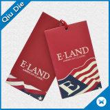 Qualität druckte Kennsatz-Papier-Fall-Marke für Kleidung/Kleid