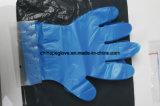Wegwerfpolyhandschuh-Farben-Blau durch verwendete Mcdonald-Gaststätte