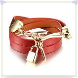 Joyería del cuero de la pulsera del cuero de la joyería del acero inoxidable (LB511)