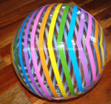 膨脹可能で巨大な虹のビーチボール(PM165)