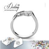 Het Kristal van de Juwelen van het lot van de Dubbele Briljante Ring van de Liefde Swarovski