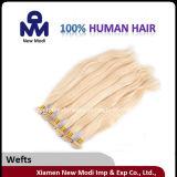 Естественные белокурые бразильские уток человеческих волос Remy девственницы/соткать волос
