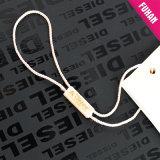 Tag feitos sob encomenda do plástico da roupa do ouro da venda quente da promoção