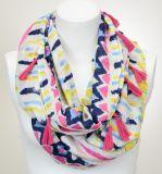 Spring&Summerの特大印刷されたふさのビスコース綿の無限スカーフのショール