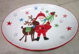 Plateau ovale en céramique peint à la main de vaisselle de Noël (GW1266)