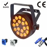 Powercon 18X10W RGBWA 5in1 Slim LED PAR Can Stage Light avec Ce et RoHS