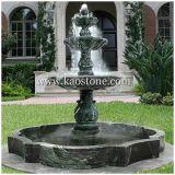 Fonte de água decorativa personalizada da pedra do granito do jardim ao ar livre dos ornamento