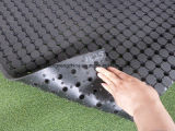 Coil Hollow Anti Slip Drainage Rubber Mat / Anti Fatigue Rubber Mat