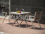 304 Ensemble de table à manger en acier inoxydable résistant aux rayons UV brillant