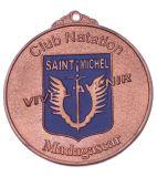 青銅によってめっきされるカラー絵画メダル