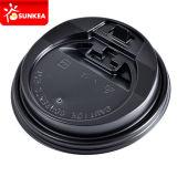 使い捨て可能で黒いペーパーコーヒーカップのプラスチック閉鎖の帽子