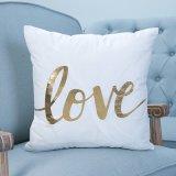 Stagnola/ammortizzatore/cuscino decorativi di Gold&Silver con le parole (MX-02A/B/C/E/G/H)