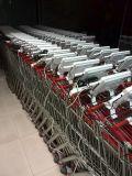 Carrello di acquisto del supermercato dell'affissione a cristalli liquidi che fa pubblicità al contrassegno di Digitahi della macchina