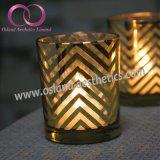 حديثة ذهبيّة يصفح زجاجيّة [كندل هولدر] شمعة فنجان منزل زخرفة طاولة جزء أساسيّ