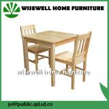 2脚の椅子が付いている純木の食堂の家具