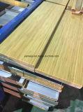 Изолированная шерсть утеса деревянной поверхности заряда пожаробезопасная обшивает панелями декоративные панели потолка сандвича шерстей утеса