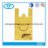 HDPEの明白なプラスチック小売りの食料品の買い物のTシャツのハンドル袋