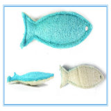 Stuk speelgoed van de Tanden van de Kat van de Vorm van de Vissen van de luffa het Materiële Maal