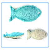 Stuk speelgoed van de Tanden van de Kat van de Vorm van de Vissen van de Luffa van het Stuk speelgoed van de Producten van het huisdier het Materiële Maal