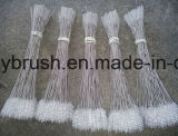 Escova de limpeza de nylon do punho do aço inoxidável do fio (YY-598)