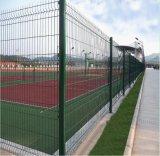 Покрынные PVC панели загородки сваренной сетки, загородка сада, разделительная стена