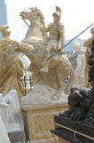 切り分ける庭の装飾(SY-X1311)のための石造りの大理石の兵士の彫像の彫刻を