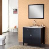 Fußboden-stehender Badezimmer-Eitelkeits-Schrank mit Bad-Spiegel