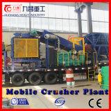 Triturador móvel para a planta de esmagamento móvel do rolo de pedra