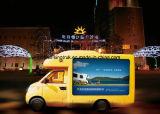 Puerta exterior móvil LED de la fuente profesional que hace publicidad del carro de la tablilla de anuncios con P6 P10