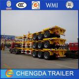20 pés 40 pés Skeletal Container Semi-reboque com recipiente de bloqueio