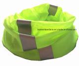 Tube multifonctionnel magique sans joint teint fait sur commande Headwear de collet de pistes r3fléchissantes