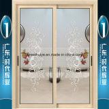 Алюминиевая нутряная вися дверь с белым цветом Teak цвета