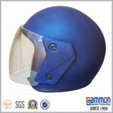 Medio casco blanco de la motocicleta de la cara (OP212)
