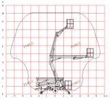 máquina desbastadora rebocadora de Manlift da cereja 200kg de 8m 26FT para a venda